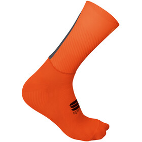 Sportful Evo Chaussettes Homme, fire red orange sdr anthracite